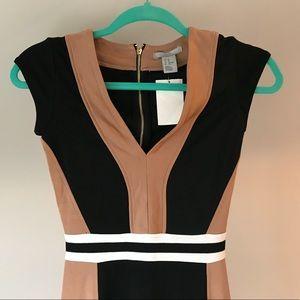 H&M Pencil  Dress Brown Black White
